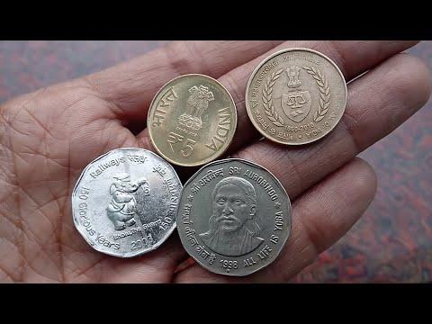 2 Rupee Coin 1998 Shri AUROBINDO | 2 Rupee 150 Year Railway | 5 Rupee coin CAG