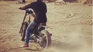 Rocking star yash KGF bike