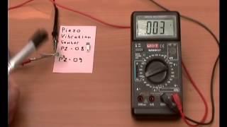 Пьезоэлектрический датчик изгиба PZ-08(09)