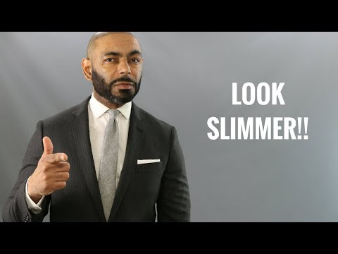 How To Use Clothes To Look Slimmer/Top Men's Style Hacks To Look Slimmer