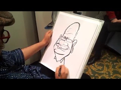 "Live caricature at the ""Fab Bridal Show,"" Grandwest"