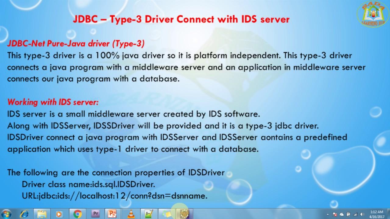 JDBC TYPE 3 WINDOWS 8 X64 TREIBER