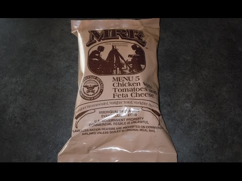 MRE Review (2012)- Menu No 5 Chicken with Tomatoes and Feta Cheese
