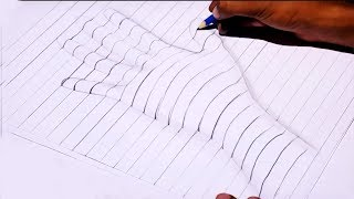How to Draw a 3D Hand On Line Paper | Drawing a Hand Trick Art | 3D Hand Drawing Step by Step