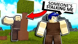 WE STALKED SOMEONE and made him MAD... THIS is what happened (Roblox Booga Booga)
