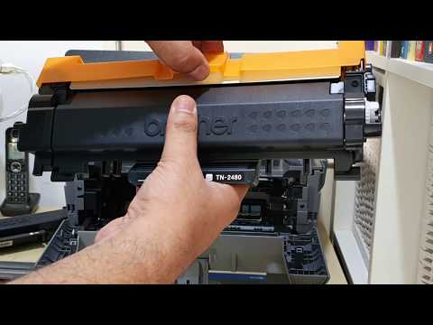 How To Replace The Toner Cartridge For Brother Dcp L2535dw Laser Printer Youtube