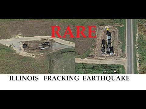 5/31/2015 -- ILLINOIS Fracking Earthquake -- Rare 3.4 magnitude strikes frack well operation