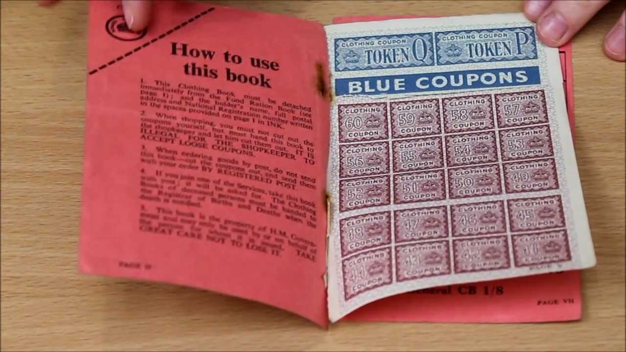 clothing ration book
