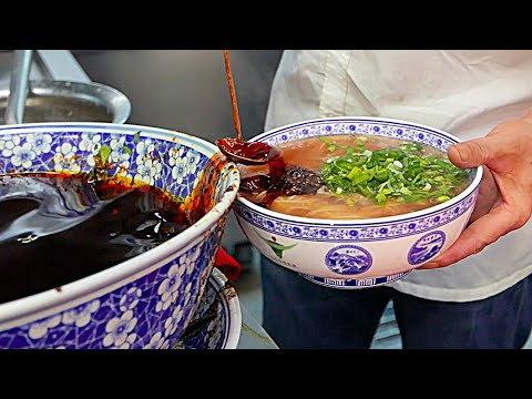 Thumbnail: Beijing Street Food - Lanzhou Beef Hand Pulled Noodles 兰州拉面 / 蘭州の麺 / 난중 국수