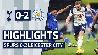 Highlights from tottenham hotspur's 2-0 defeat to leicester city.