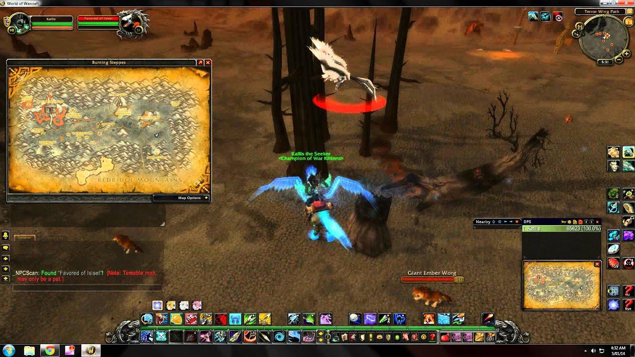 World Of Warcraft Rare Hunter Pet Locations Burning Steppes