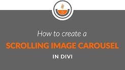 Divi Tutorial - Recipe #23 - How to Create a Scrolling Image Carousel in Divi