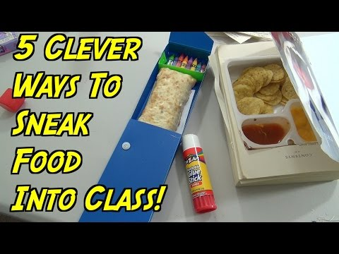 Thumbnail: 5 School Hacks You Can Do When You're Hungry - How To Sneak Food Into Class (HOW TO HACK)