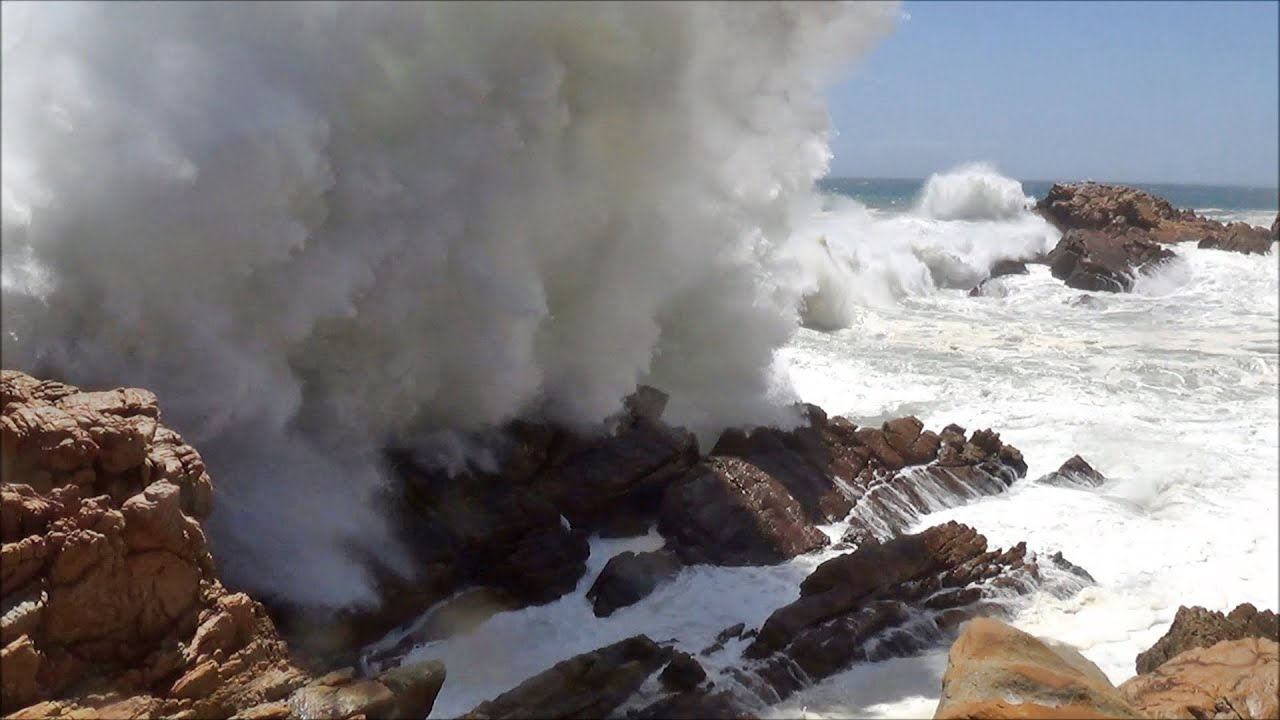 big ocean waves crashing into rocks and exploding hd 1080p youtube