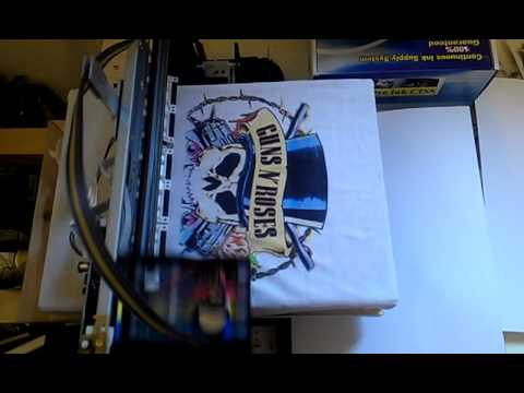 Epson s22 home made diy dtg tee shirt youtube for Home t shirt printer