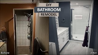 DIY Bathroom Remodel | First Time Renovation for $4k