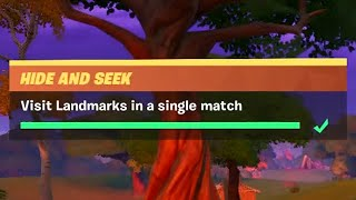 Visit Landmarks in a Single Match (5) - Fortnite Chapter 2 Season 1 - Hide And Seek Challenge Guide (Week 6). Video quality is (1080p 60 FPS.) Support a ...