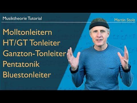 Musiktheorie: Molltonleitern, HT/GT-, Ganzton-, Blues-Tonleiter, Pentatonik,