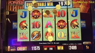 $100 Live Play Series #6★PompeII Legends /Deluxe Slot Machine, Barona Casino, Akafujislot