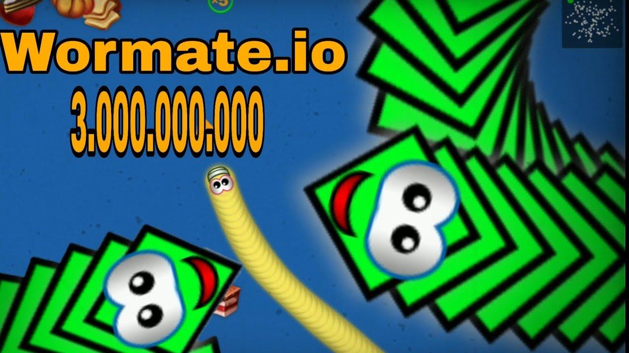 Wormate.io 2020 | Rắn Săn Mồi | Game Con Giun | Game Con Sâu P2  A.I 1000000 Score GamePlay