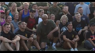 Physical Training with Sgt.Maj. John L. Canley