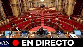 DIRECTO: Pleno en el Parlament