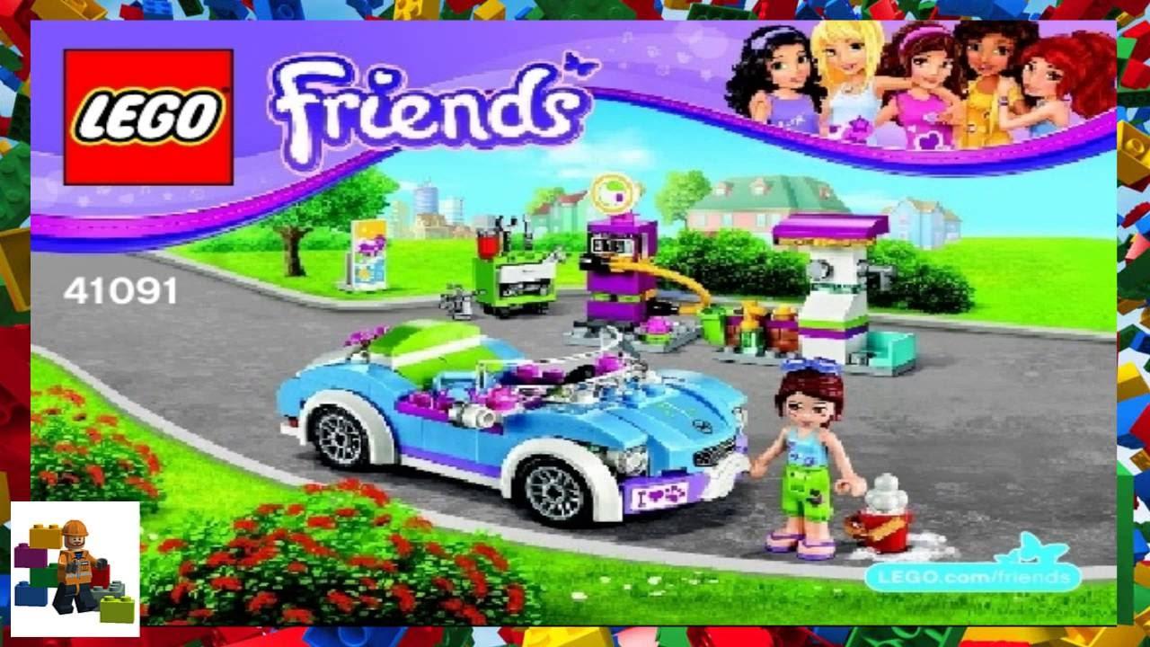 Lego Instructions Lego Friends 41091 Mias Roadster Youtube