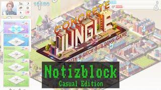 Notizblock - Casual Edition: Concrete Jungle - Kickstarter [ Gameplay / Preview / Deutsch / German ]