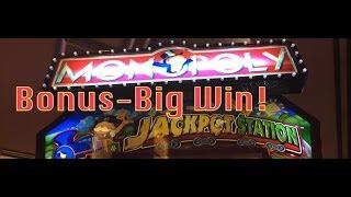 Monopoly Jackpot Station Slot Machine-BIG WIN!