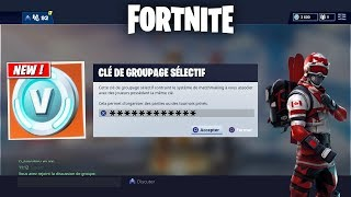 FORTNITE A NEW V-BUCKS SELECTIVE GROUPAGE CLEC? PART PERSONALISE (Concept)
