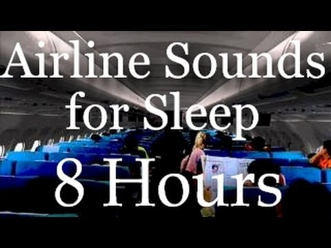 """Airline Sound : 8 Hr. Long Flying """"Sleep Sound"""" in an Airliner"""