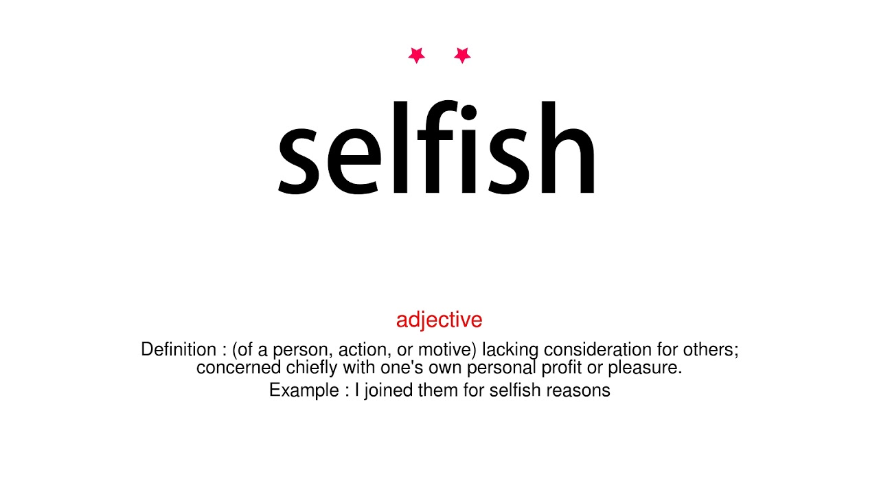 How to pronounce selfish - Vocab Today