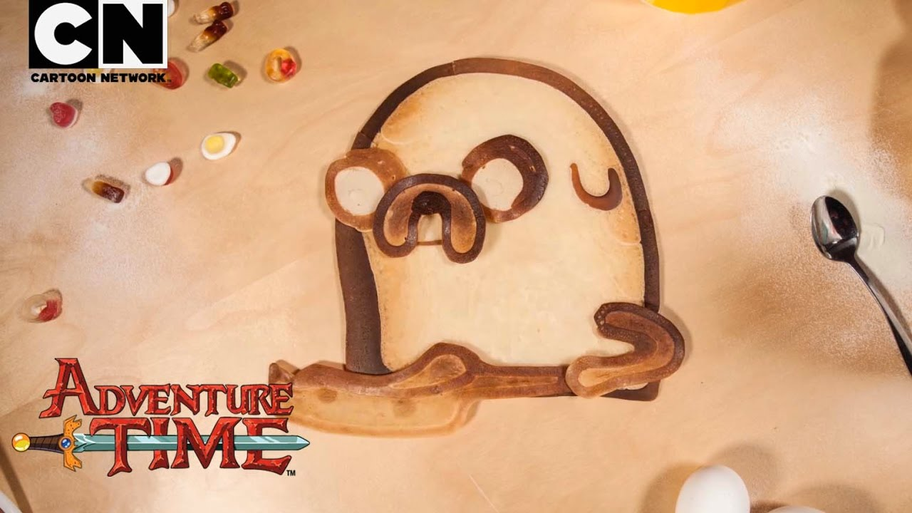 Adventure Time Bacon Pancakes Pancake Art Remix Cartoon