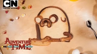 Adventure Time | Bacon Pancakes - Pancake Art REMIX! | Cartoon Network