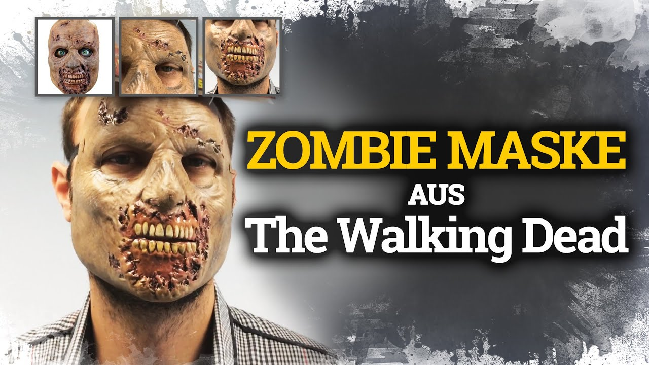 Download Zombie Maske The Walking Dead Halloween Anprobe