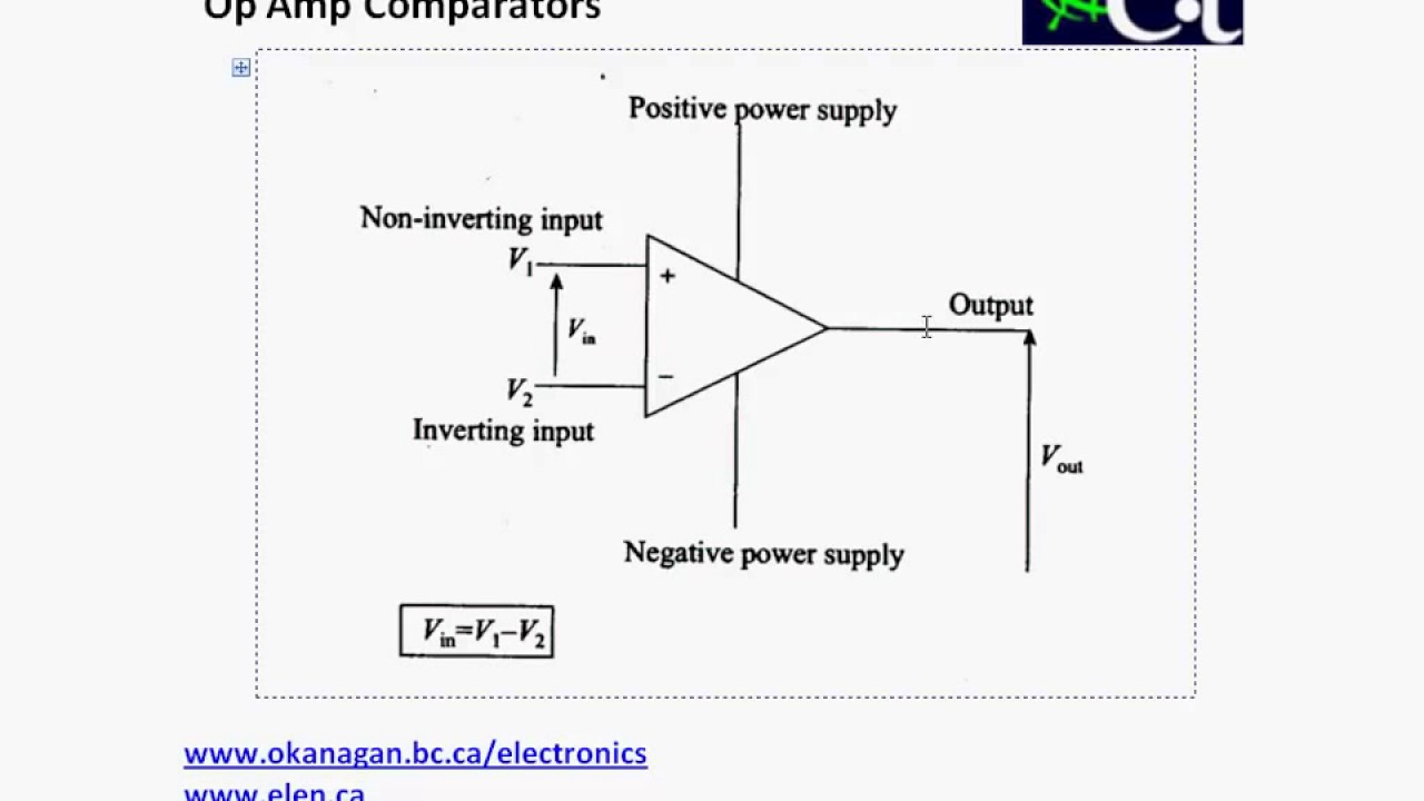 Operational Amplifiers Comparators Youtube Negative Voltage Reference Circuit 2 Basiccircuit Diagram