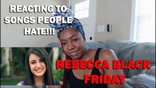 WIFE REACTS TO REBECCA BLACK- FRIDAY (FIRST TIME REACTION)