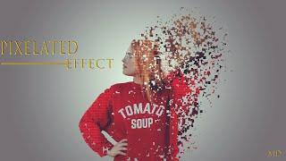 Pixelated Effect|Photoshop Tutorial|طريقة عمل|تأثير البكسل|بالفوتوشوب