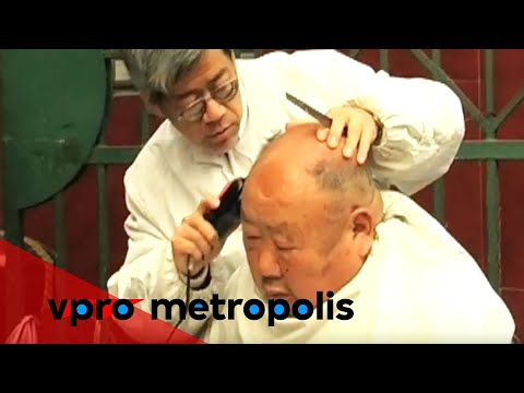 Old barbers in the streets of Shanghai - vpro Metropolis