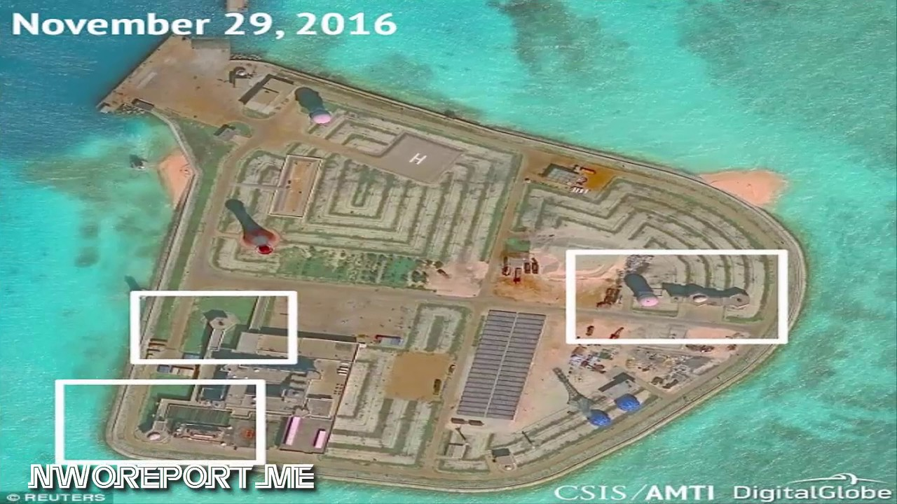 China installs anti aircraft and anti missile systems on artificial islands