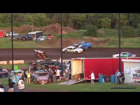 A tangle of Hobby Stocks - Rapid Speedway - 7/6/18