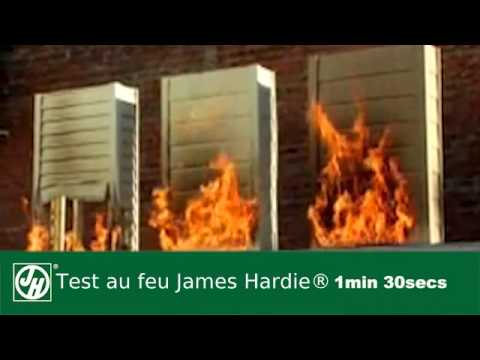 James hardie uk fire test youtube for Hardiplank fire rating
