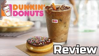 Dunkin Donuts Vanilla Cake Batter Donut & S'mores Iced Coffee Reviews - Wreckless Eating