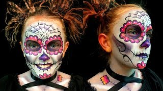 Awesome Sugar Skull Makeup Tutorial | Day of the Dead | FunPop!