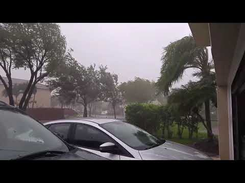 Hurricane force wind gust