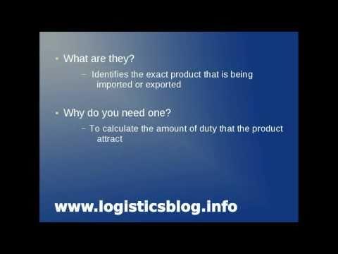 UK Import Duty - Commodity codes