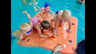 Реакция малышей на плот!-Обучение плаванию в бассейне в Минске(Курсы,Секция,занятия)