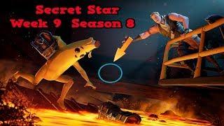 Secret Star Week 9 Season 8-Fortnite (hidden star Season 8 week 9)