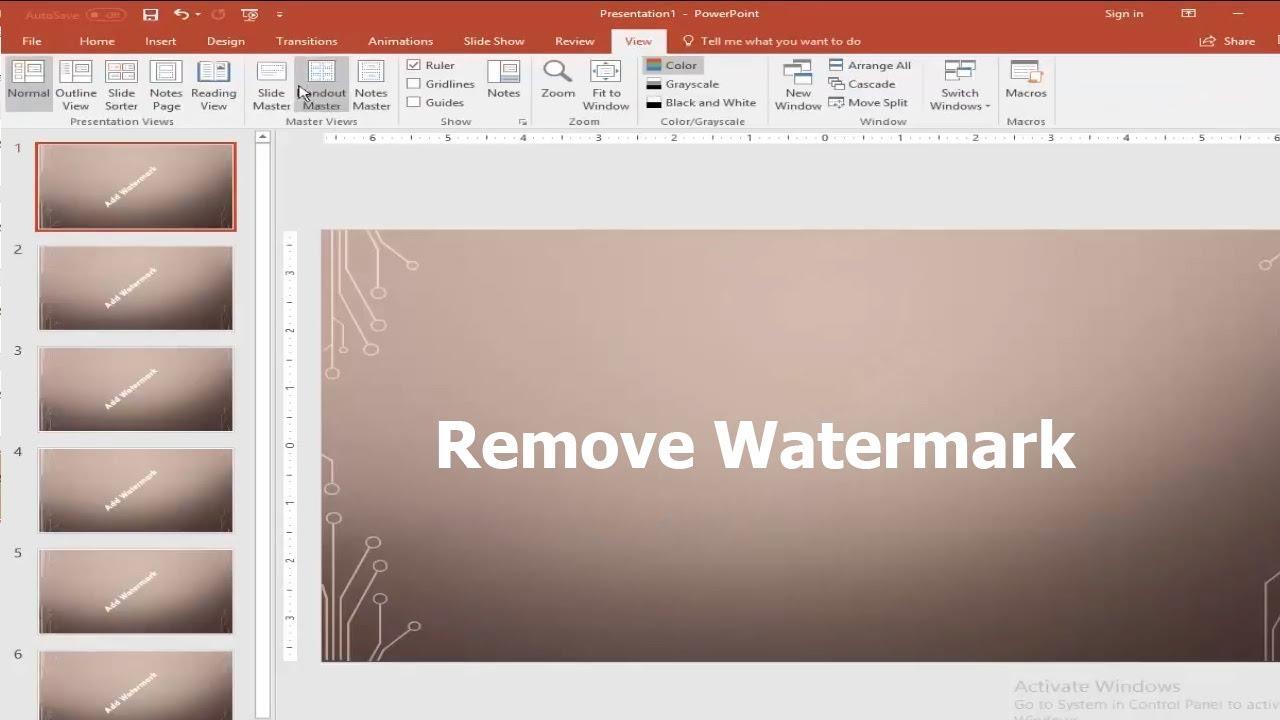 powerpoint watermark image