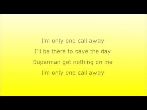 lirik lagu One Call Away